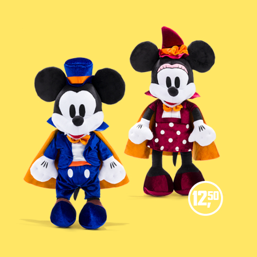 Mickey Mickey & Minnie Mouse knuffel Halloween