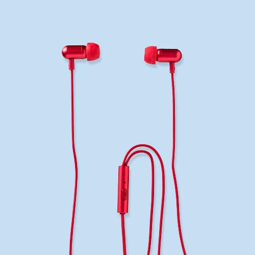 Oortelefoon rood